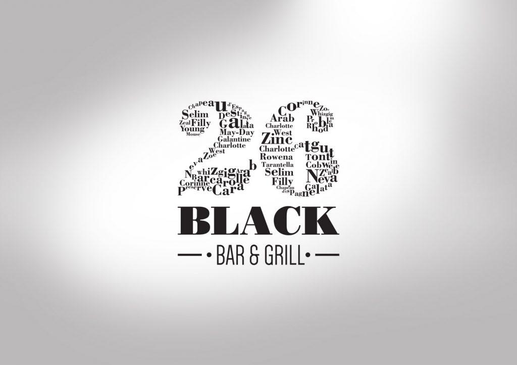 26 Black Bar and Grill Logo