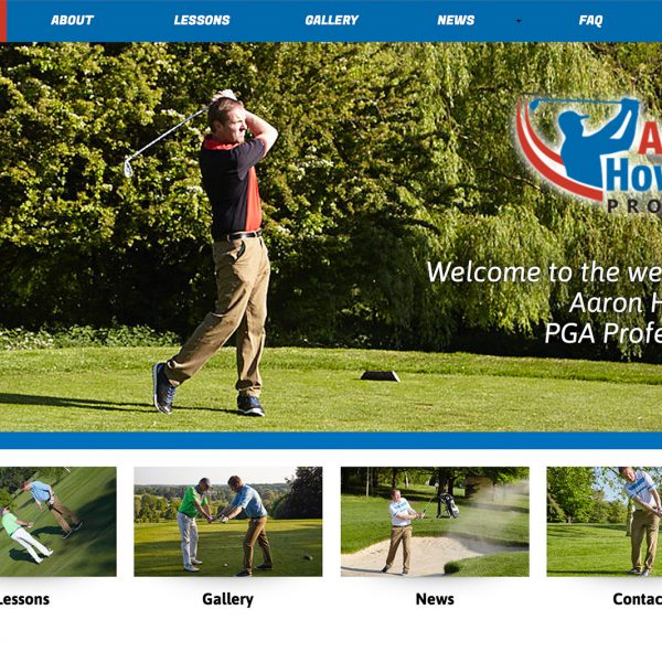 Aaron Howard Pro Golf Website