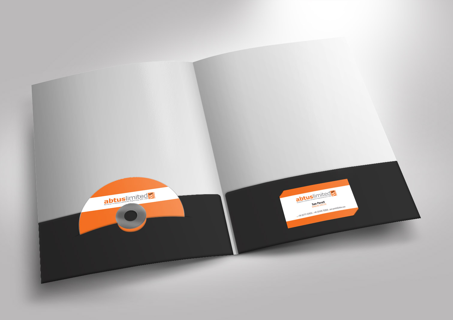 Abtus Limited Presentation Folder Front and Inside