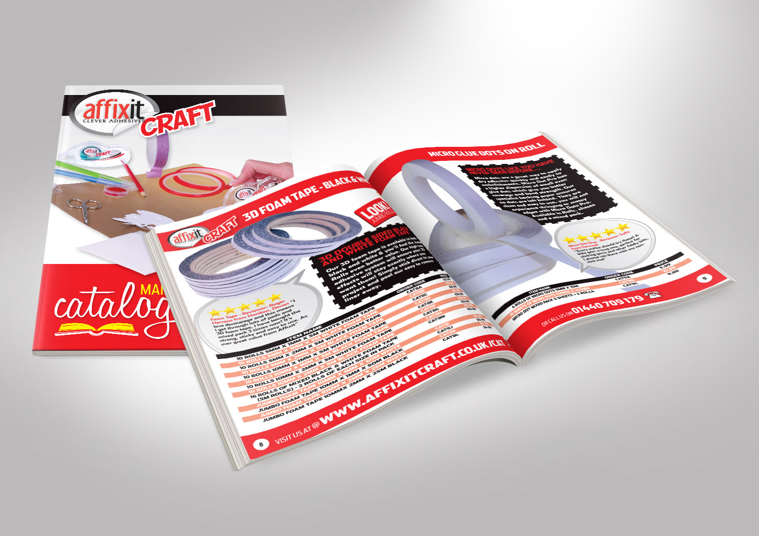 Affixit Craft Order Catalogue Front and Inside