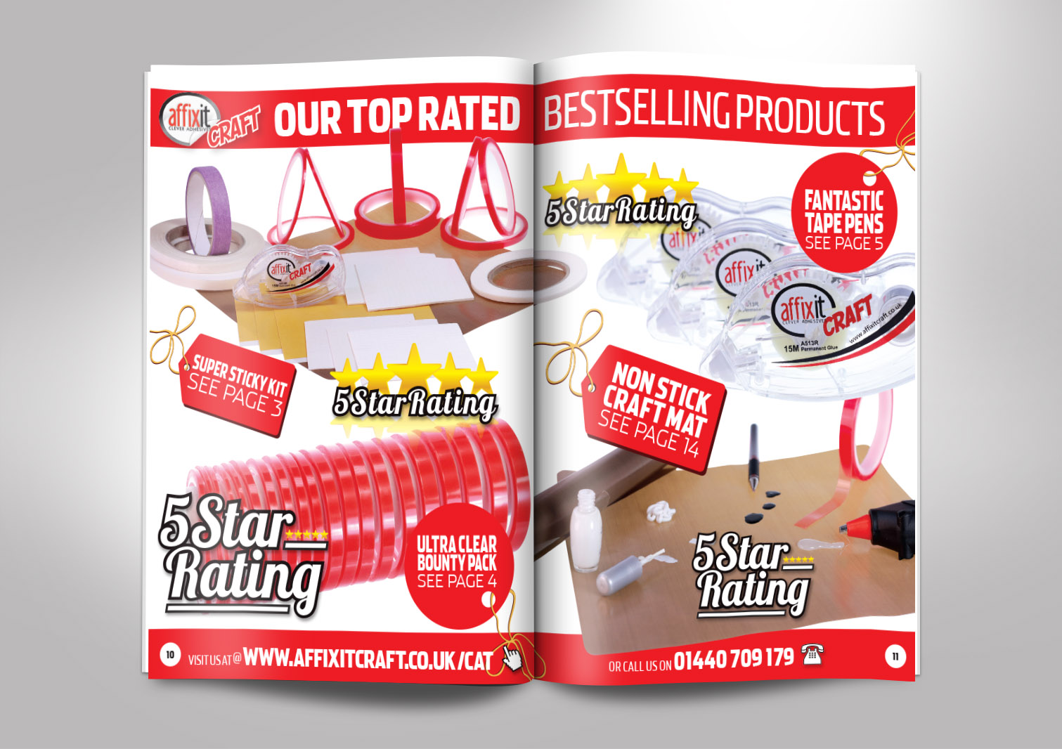 Affixit Craft Order Catalogue Inside Pages 10 and 11