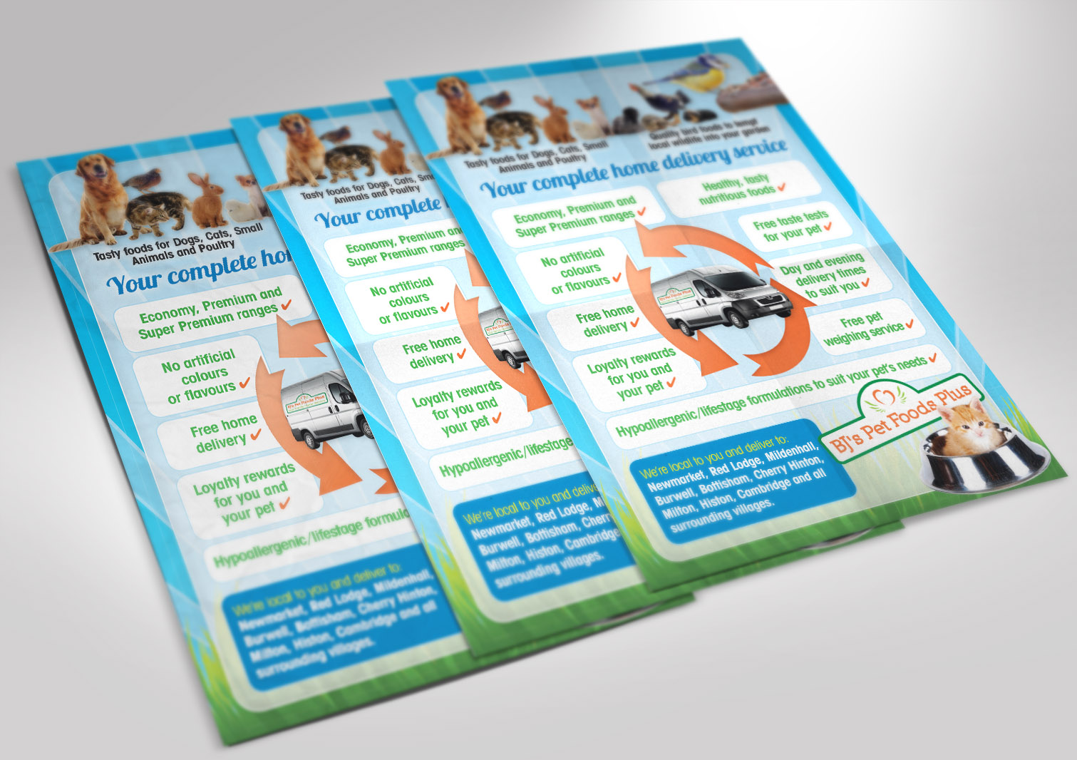 BJ's Pet Foods Plus A5 Leaflet Back