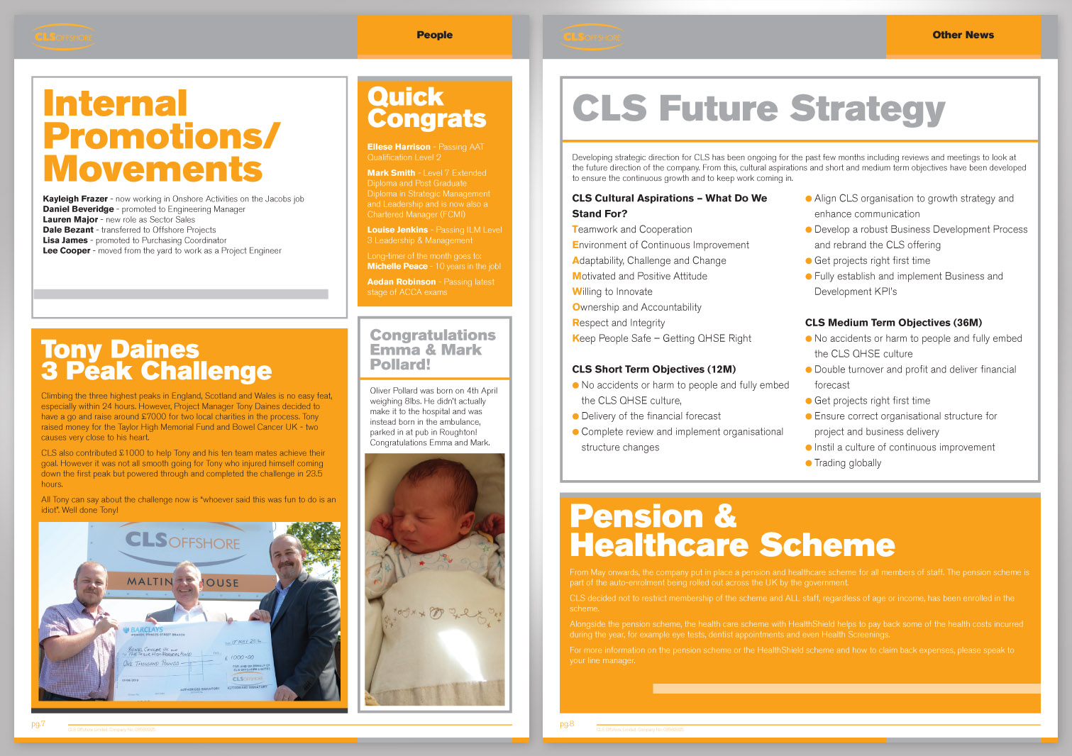 CLS Offshore Limited Newsletter Pages 7 and 8