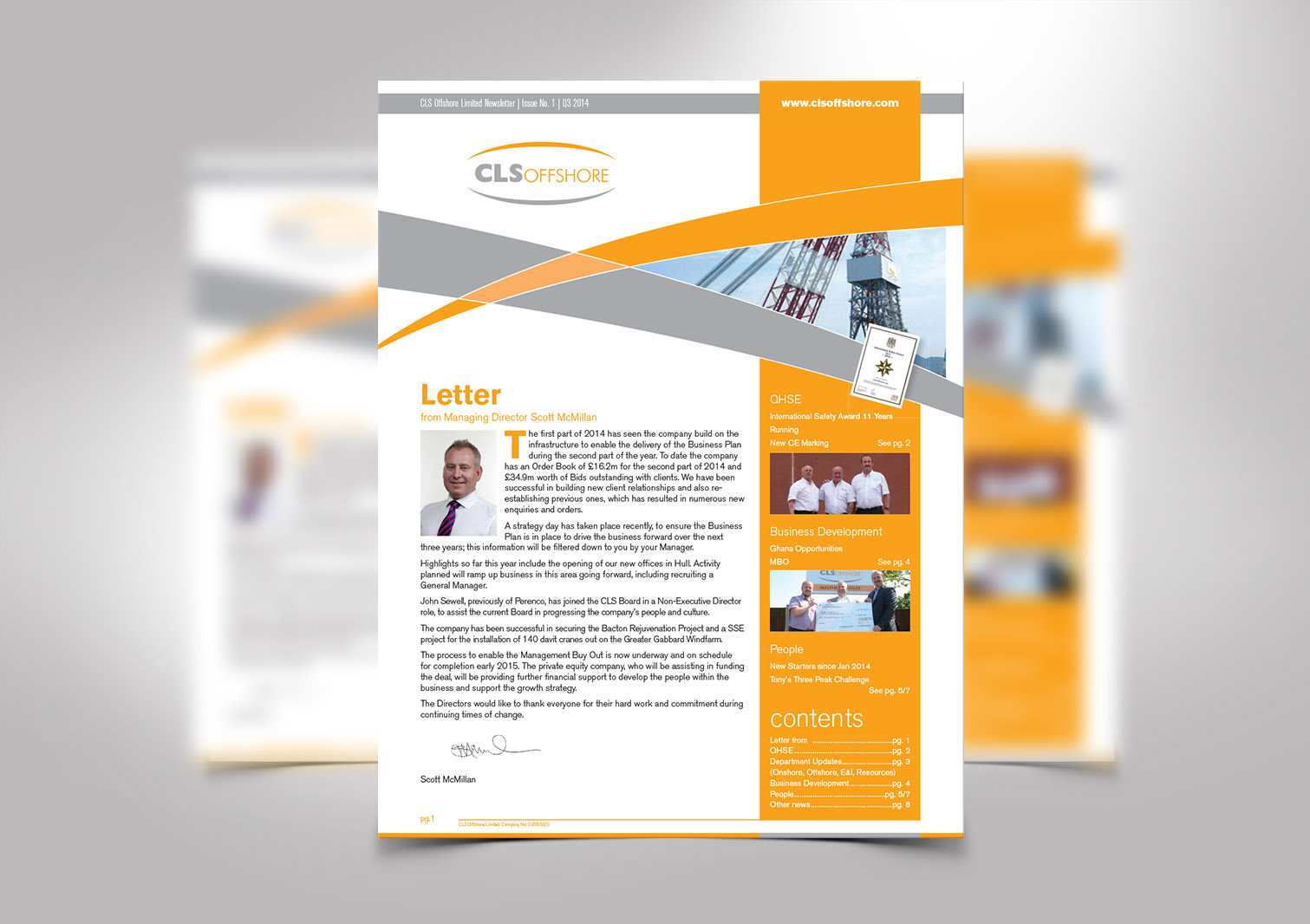CLS Offshore Limited Newsletter