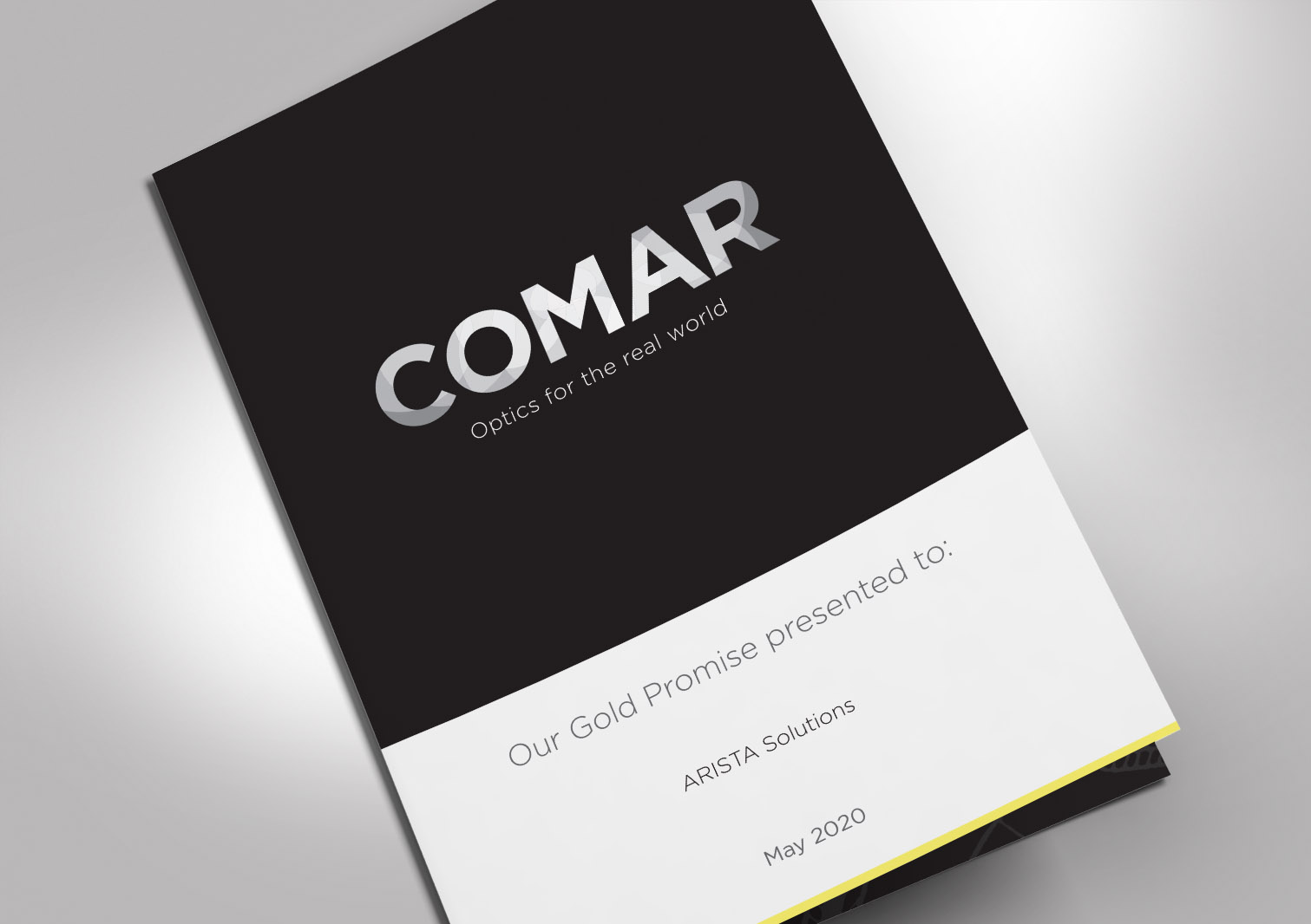 Comar Optics Limited - Gold Promise - Proposal Cover