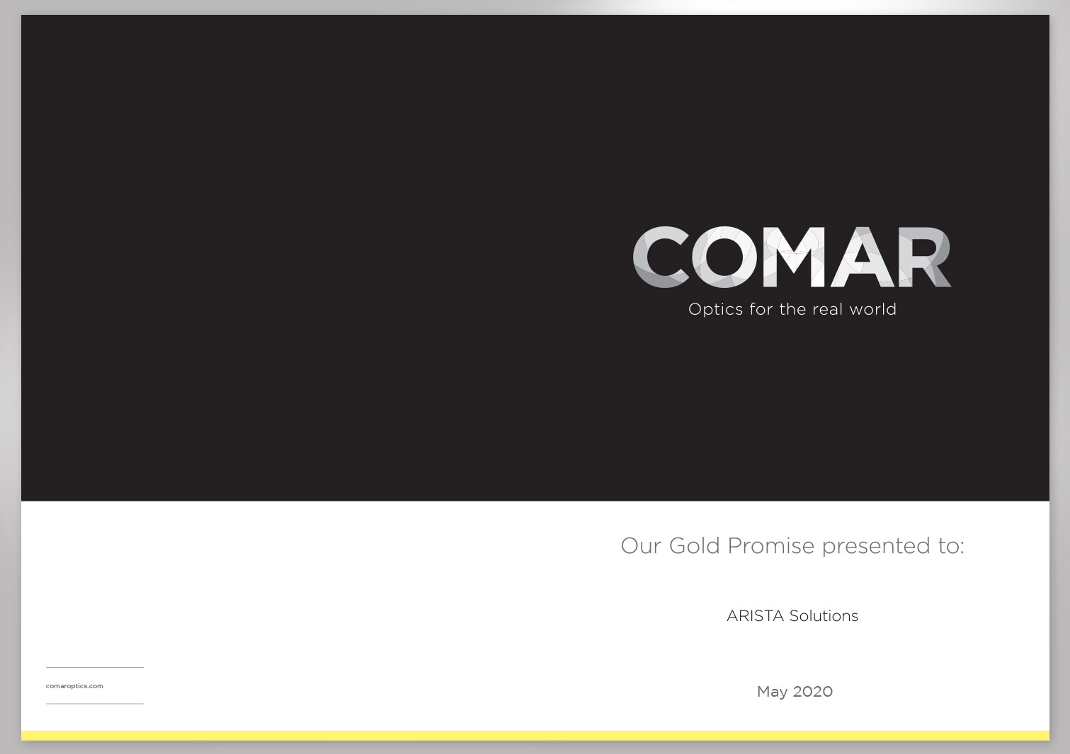 Comar Optics Limited - Gold Promise - Proposal Pages 1 and 4