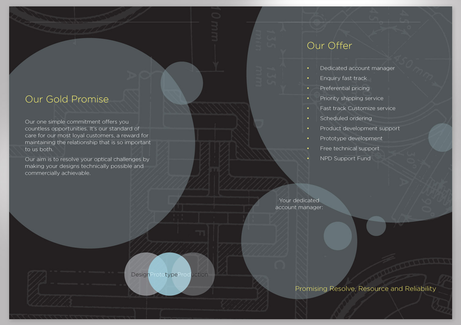 Comar Optics Limited - Gold Promise - Proposal Pages 2 and 3