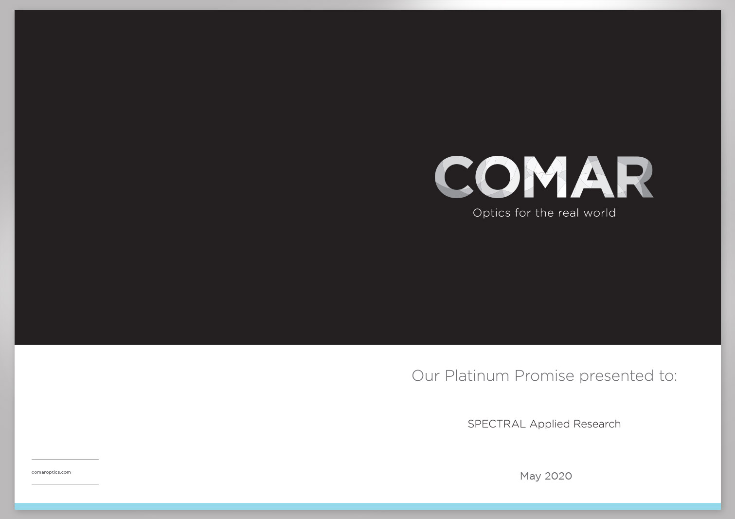 Comar Optics Limited - Platinum Promise - Proposal Pages 1 and 4