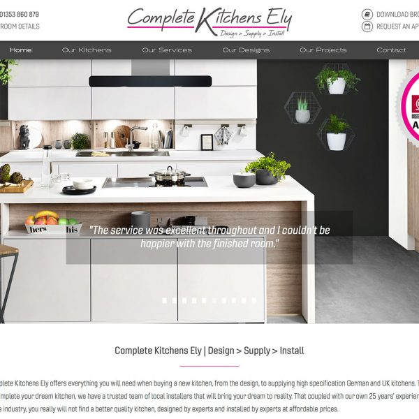Complete Kitchens Ely Website
