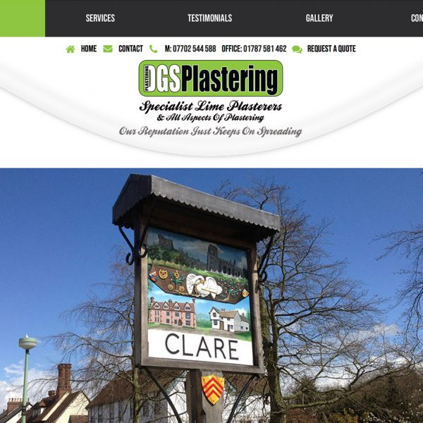 DGS Plastering Website