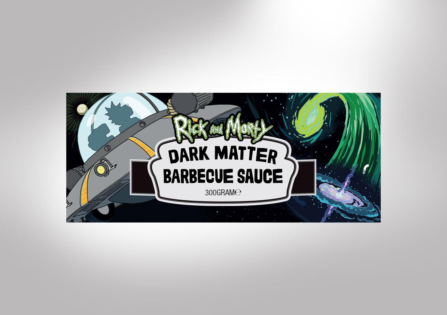 Dark Matter Barbecue Sauce Labeled Jar