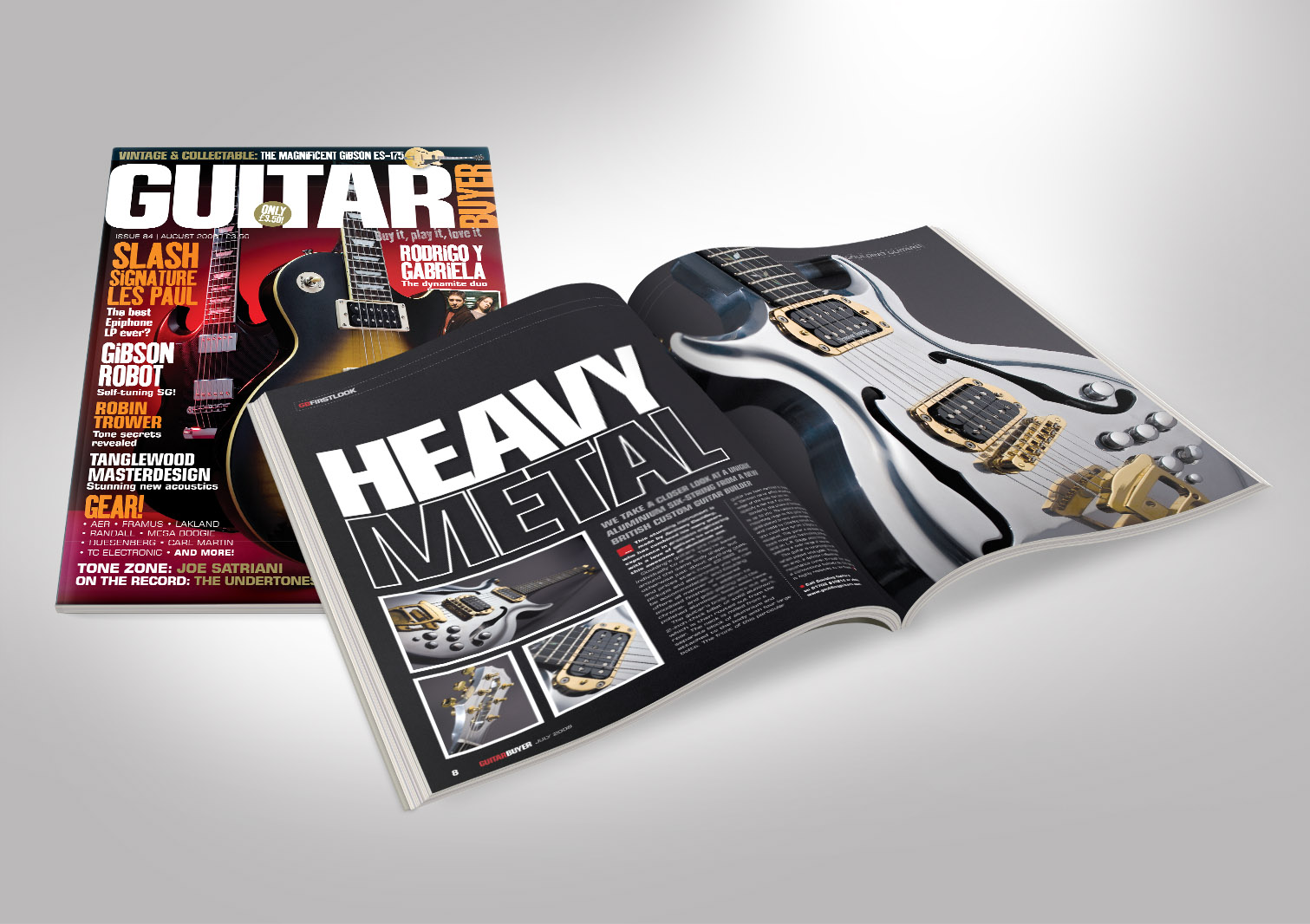 Guitar Buyer Magazine Front and Inside