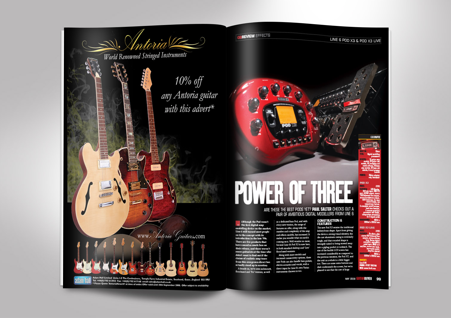 Guitar Buyer Magazine Inside Pages 1 and 2