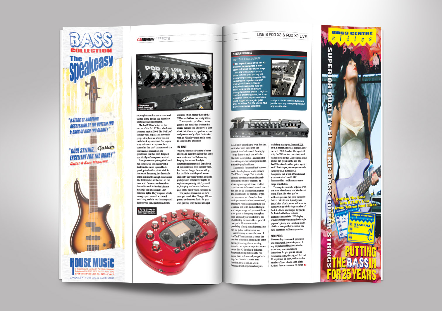 Guitar Buyer Magazine Inside Pages 3 and 4