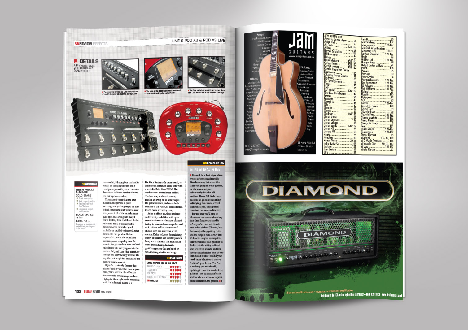 Guitar Buyer Magazine Inside Pages 5 and 6