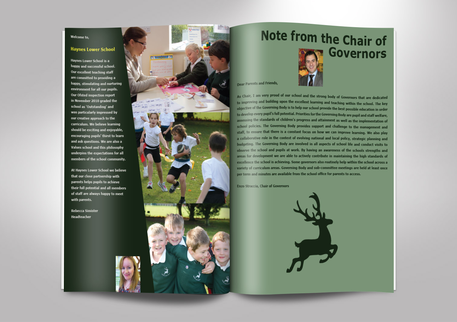 Haynes Lower School Prospectus Inside Pages 2 and 3