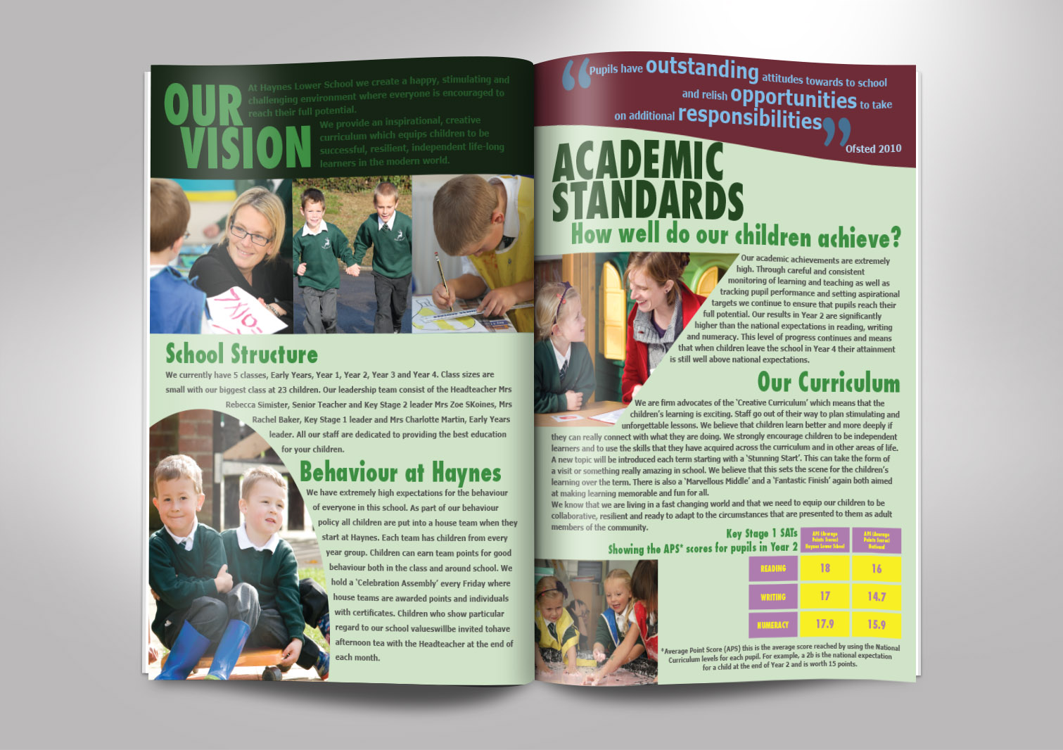 Haynes Lower School Prospectus Inside Pages 4 and 5