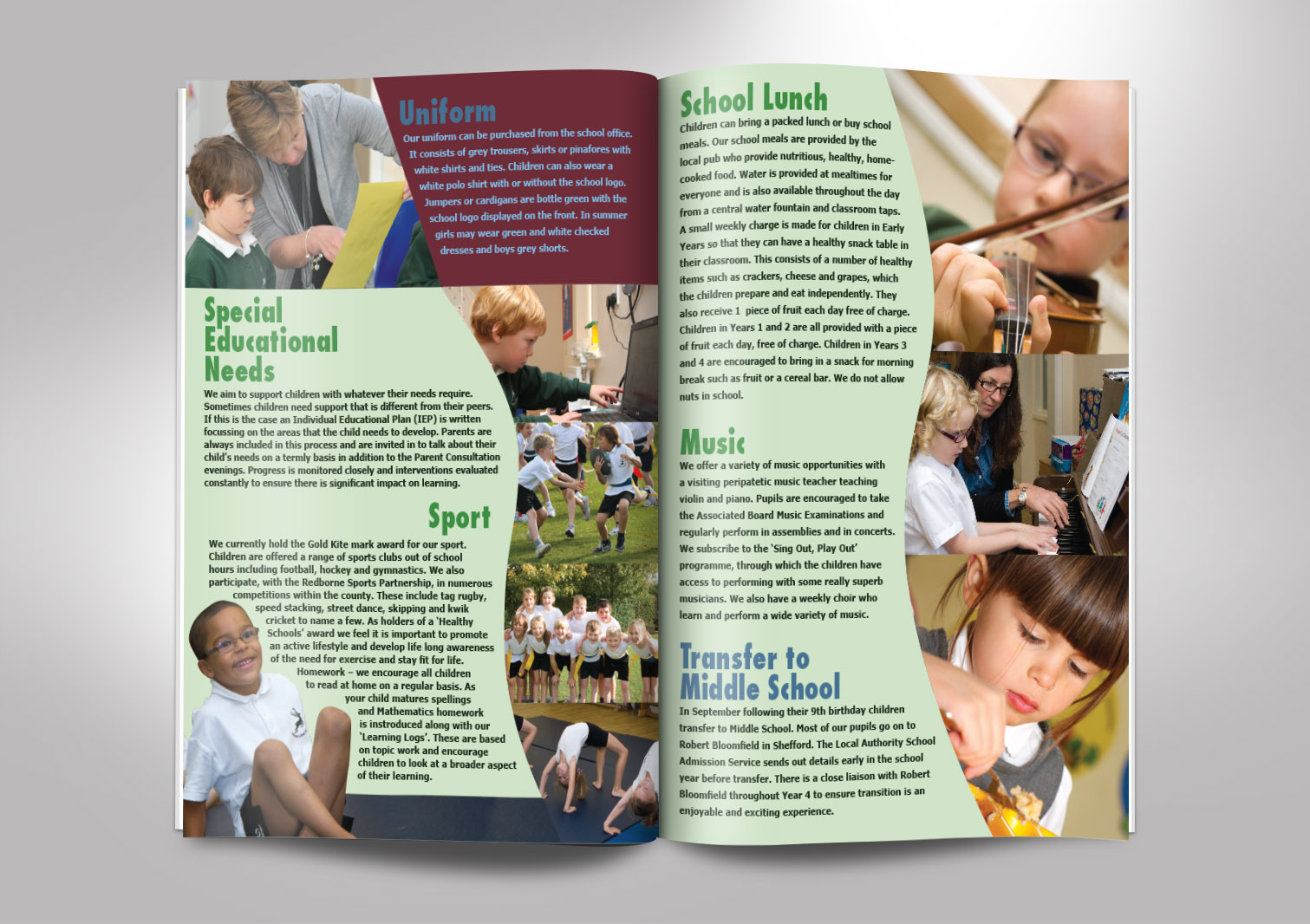 Haynes Lower School Prospectus Inside Pages 6 and 7