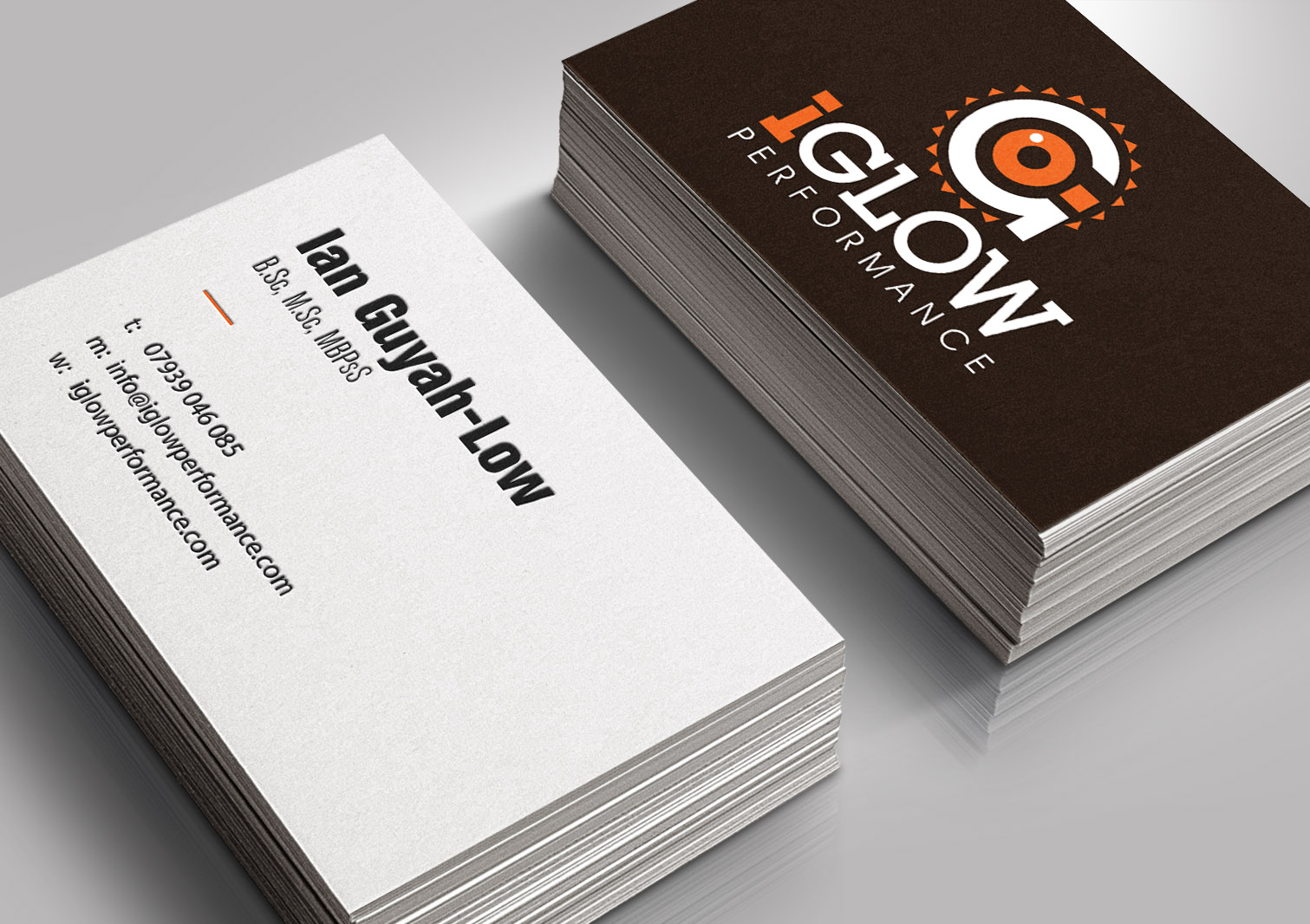 IGlow Performance Business Cards