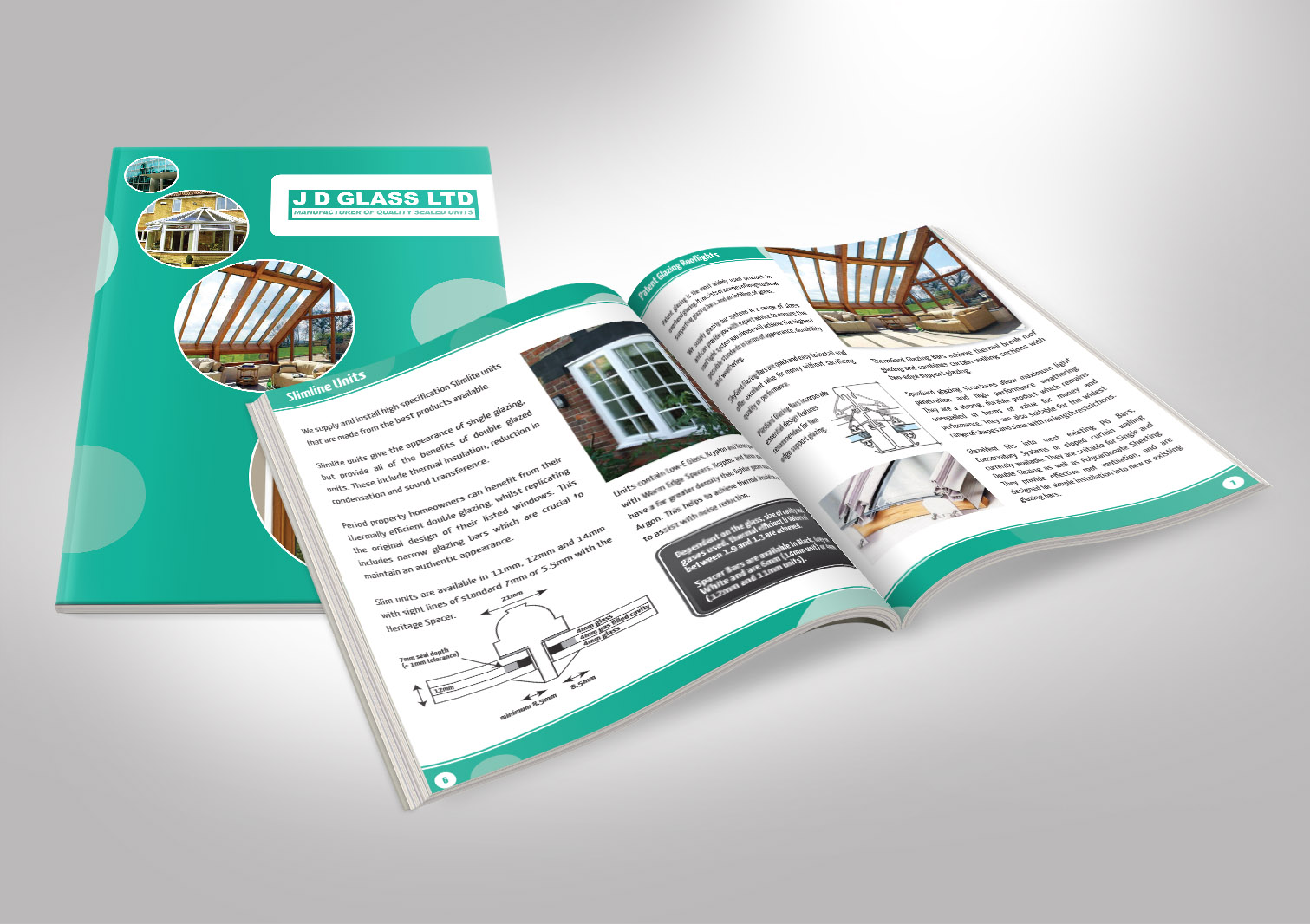 JD Glass Limited Brochures Booklets Front and Inside