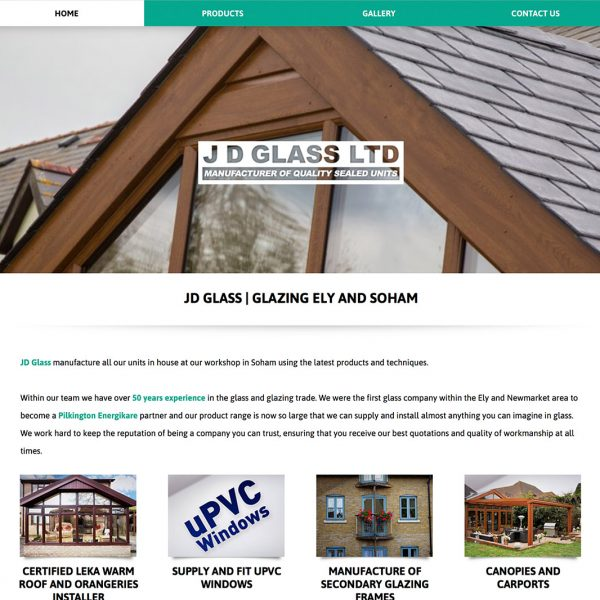 JD Glass Website