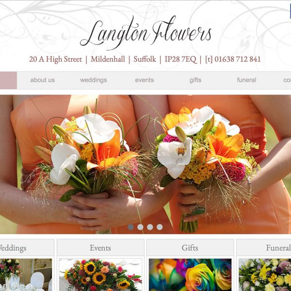 Langton Flowers Website