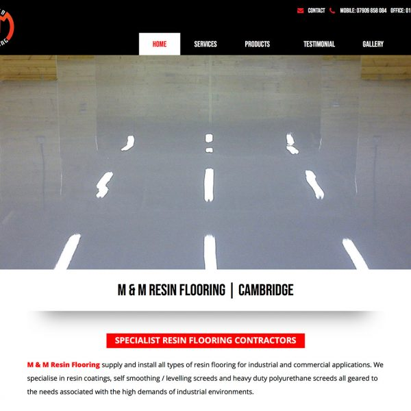 M and M Resin Flooring Website