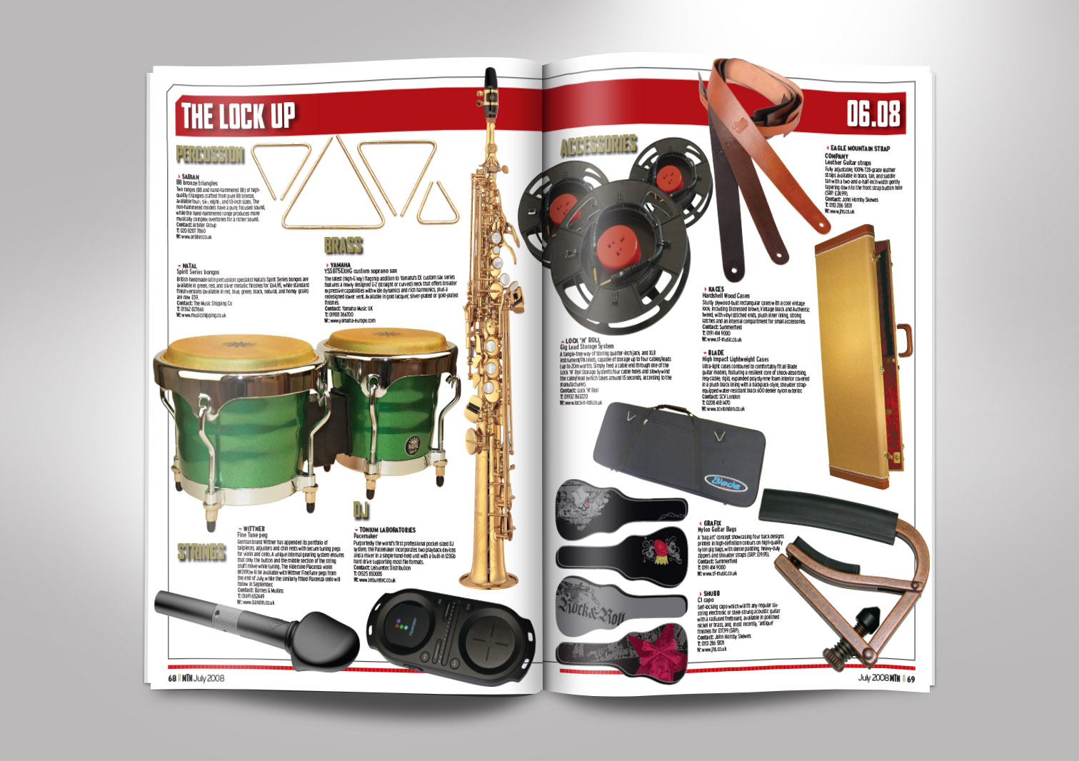 Music Trade News Magazine Inside Pages 15 and 16