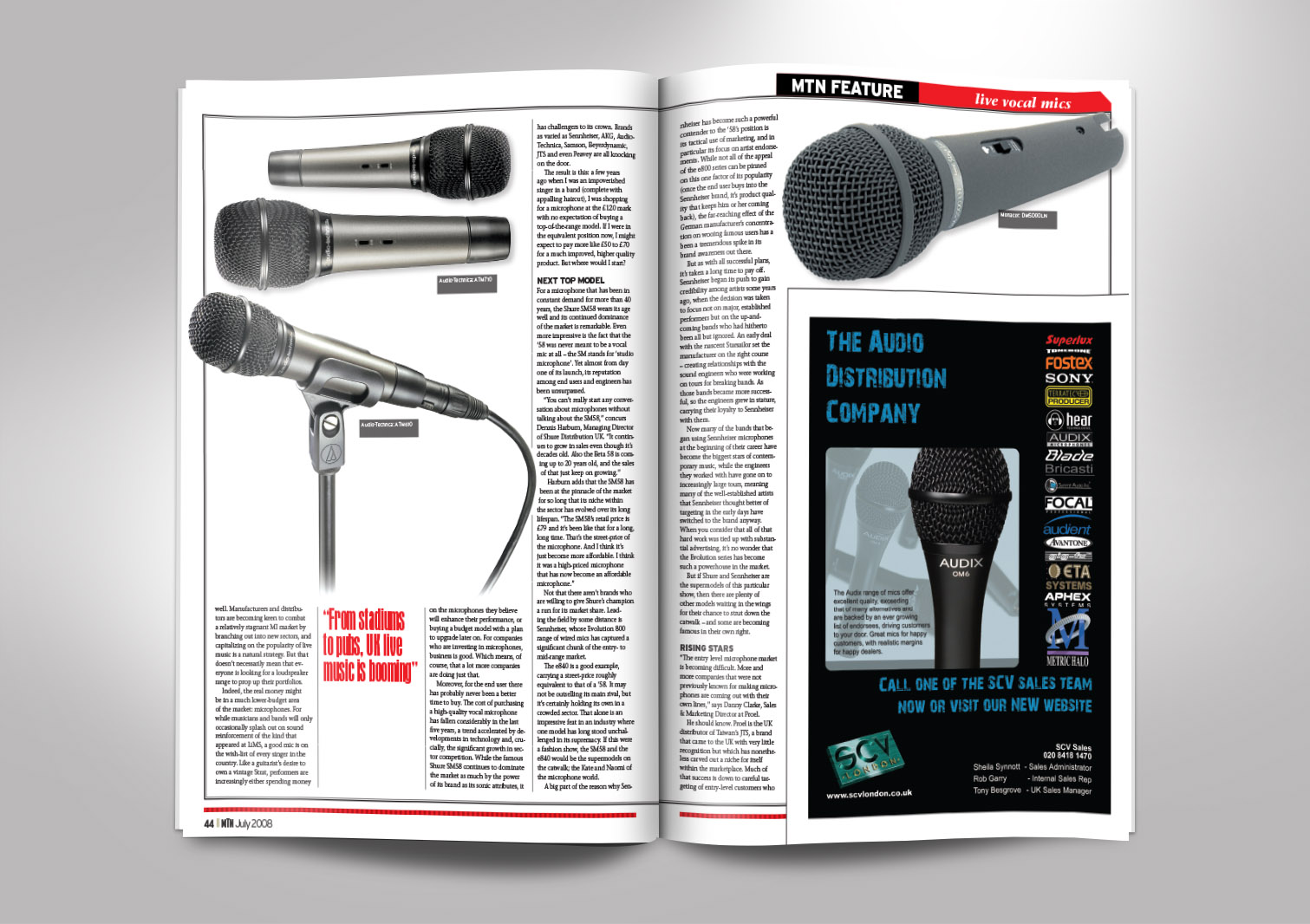 Music Trade News Magazine Inside Pages 5 and 6