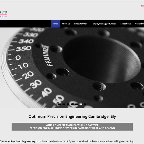 Optimum Precision Engineering Website