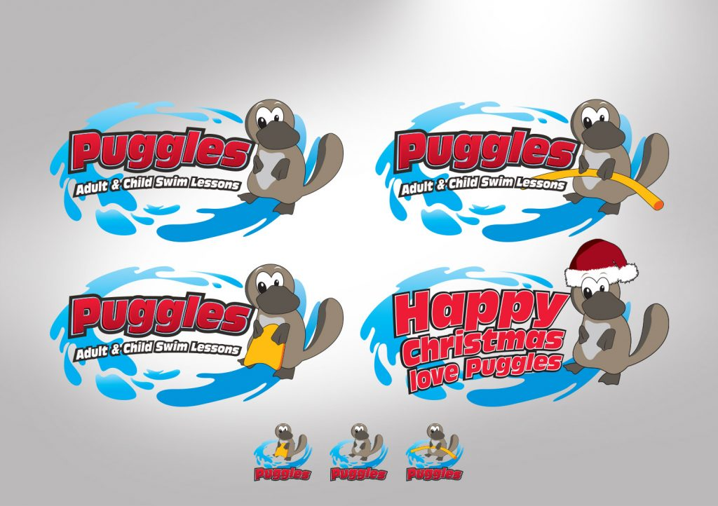 Puggles Adult & Child Swim Lessons Logo