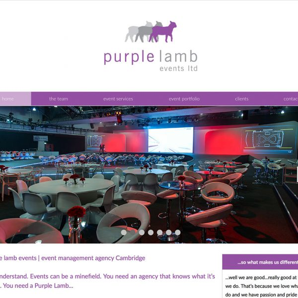 Purple Lamb Events Website