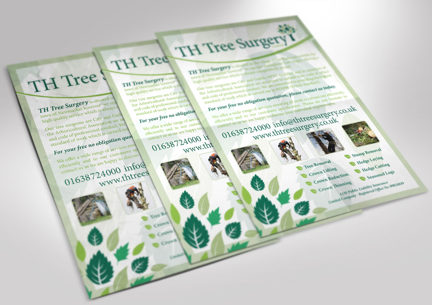 TH Tree Surgery Limited A5 Leaflet