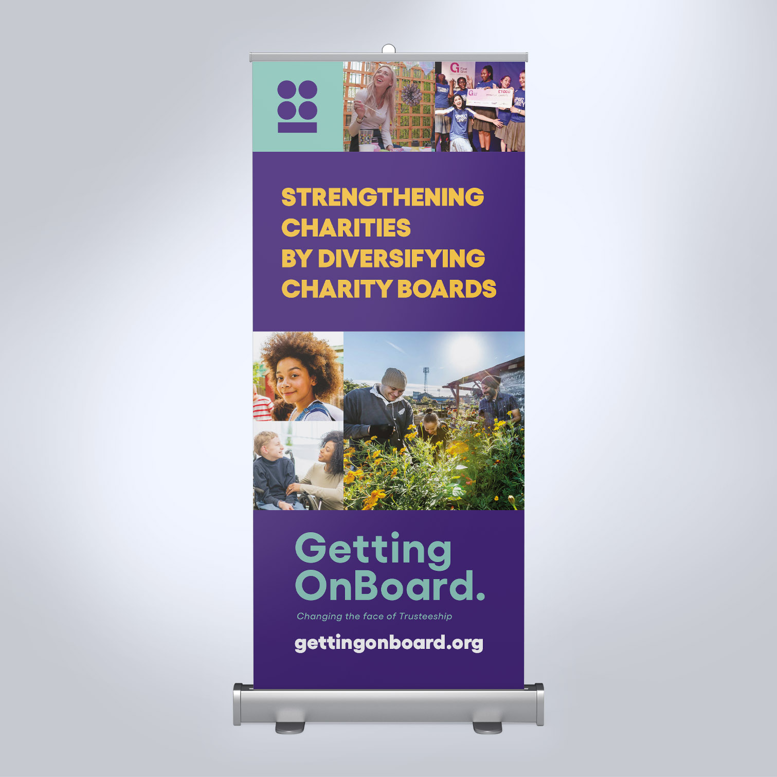 Getting on Board Roller Banner